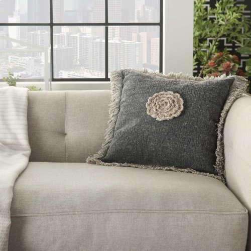 """Life Styles Gt060 Charcoal 16"""" X 16"""" Throw Pillows"""