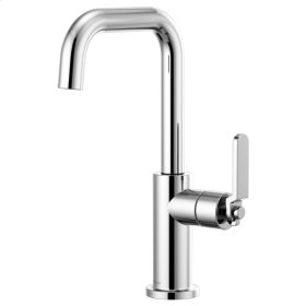 Bar Faucet With Square Spout and Industrial Handle