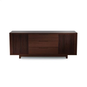 Bdi FurnitureTall Media Credenza 8558 in Chocolate Stained Walnut