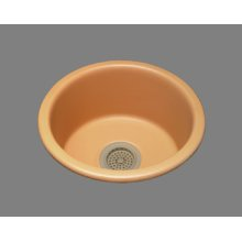 "Selena - Bar/prep Sink - 3.5"" Drain Opening - High Fire Vitreous China - Almond"