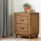 2-Drawer Nightstand - End Table with Storage - Honey Exotic Wood Product Image