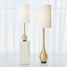 Bulb Vase Lamp-Antique Brass