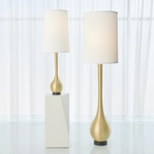 Bulb Floor Lamp-Brushed Brass
