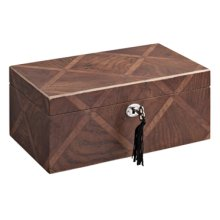 BRITTANY DIAGONAL 2 DRAWER JEWELRY BOX (sold 4 in a case pack)