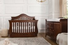 Espresso Ashbury 4-in-1 Convertible Crib with Toddler Bed Conversion Kit