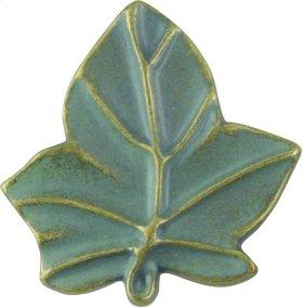 D Ivy Leaf Knob 1 3/4 Inch - Verdigris