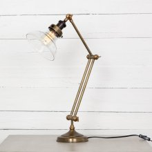 Antique Brass Finish Percy Desk Lamp