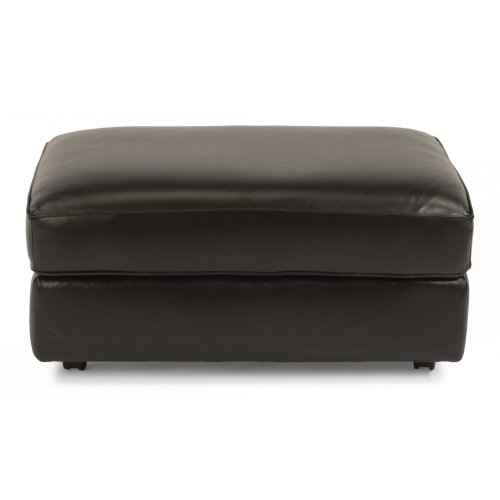 Vail Leather Cocktail Ottoman