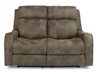 Springfield Fabric Power Reclining Loveseat with Power Headrests Product Image