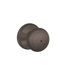 Andover Knob Bed & Bath Lock - Oil Rubbed Bronze