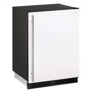 """U-Line 1000 Series 24"""" Refrigerator/freezer With White Solid Finish And Field Reversible Door Swing (115 Volts / 60 Hz)"""