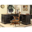 Allegro - L Desk and Return - Burnished Cherry/rubbed Black Finish Product Image