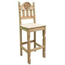 Rope Star Barstool W/wood Seat