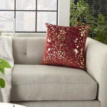 "Luminescence Qy168 Deep Red 18"" X 18"" Throw Pillows"