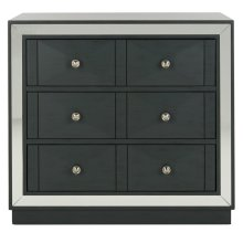 Sloane 3 Drawer Chest - Steel Teal / Nickel / Mirror