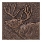 "Buck 8"" X 8"" Indoor Outdoor Wall Decor - Antique Copper Product Image"