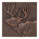 "Buck 8"" X 8"" Indoor Outdoor Wall Décor - Antique Copper Product Image"