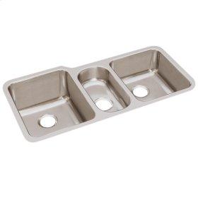 "Elkay Lustertone Classic Stainless Steel 40"" x 20-1/2"" x 9-7/8"", Triple Bowl Undermount Sink"