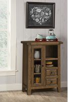 Tuscan Retreat® Coffee Cabinet - Metal Runner - Antique Pine Product Image