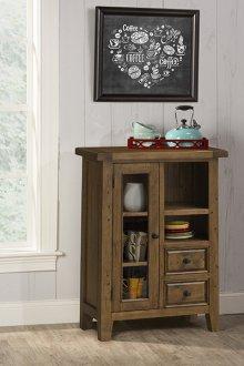 Tuscan Retreat® Coffee Cabinet - Metal Runner - Antique Pine