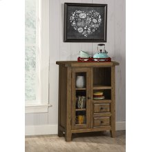 Tuscan Retreat® Coffee Cabinet - Metal Runner - Antique Pine
