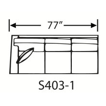 Sectional Component-One Arm Sofa