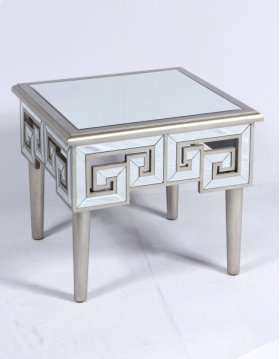End Table-antique Champagne Gold Finish