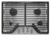 Whirlpool® 30 inch Gas Cooktop with Stainless Steel Finish Knobs