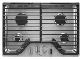 30 inch Gas Cooktop with EZ-2-Lift Hinged Cast-Iron Grates