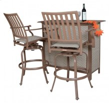 Island Breeze 3 PC Slatted Bar Table Set