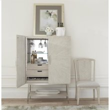 Lilly - Upholstered Splat Back Chair - Champagne Finish