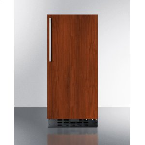 """Summit15"""" Wide All-refrigerator for Built-in or Freestanding Use With Integrated Frame for Overlay Panels; Replaces Ff1538bif"""