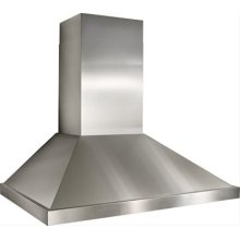 """54"""" Stainless Steel Range Hood with External Blower Options"""