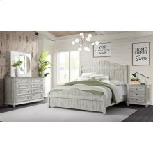 Madison - Three Drawer Nightstand - Rustic White Finish
