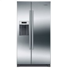 BIG SAVINGS!!! BOSCH 300 Series Freestanding Counter-Depth Side-by-Side Refrigerator Inox-easyclean / SLIGHTLY USED -CUSTOMER DID NOT LIKE DOOR DISPENSER ICE MAKER / PRISTINE CONDITION / 6 MONTH PAGE WARRANTY