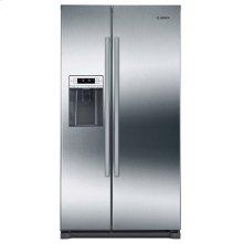 300 Series Freestanding Counter-Depth Side-by-Side Refrigerator Inox-easyclean