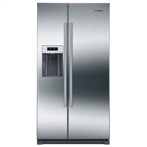Bosch300 Series Freestanding Counter-Depth Side-by-Side Refrigerator Easy clean stainless steel
