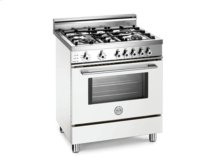 White 30 Four-Burner Electric Self Clean Oven
