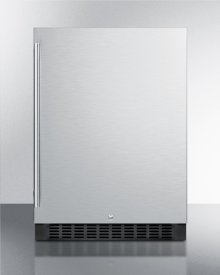 Outdoor All-refrigerator for Built-in Use, With Lock, Digital Thermostat, Black Cabinet, and Stainless Steel Door