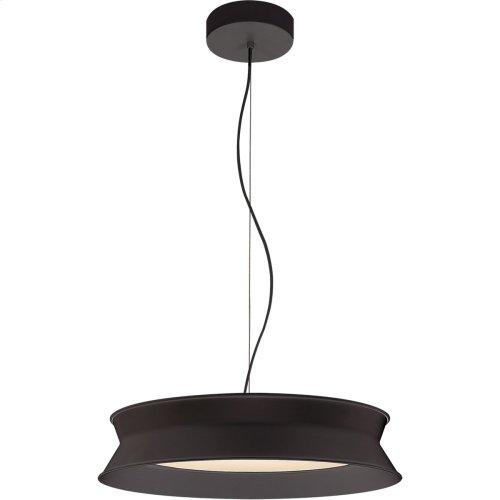 Visual Comfort PB5020STB Peter Bristol 60/40 LED 20 inch Stone Black Pendant Ceiling Light