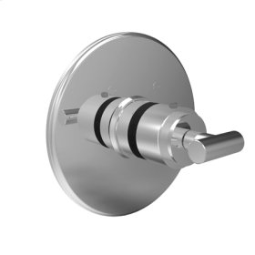 Satin Nickel - PVD Round Thermostatic Trim Plate with Handle