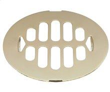 """4-1/4"""" Shower Drain Trim Grid - Antique Brass"""
