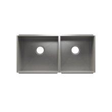 """UrbanEdge® 003657 - undermount stainless steel Kitchen sink , 18"""" × 16"""" × 10""""  15"""" × 16"""" × 8"""""""