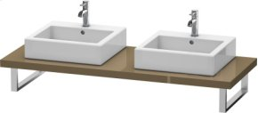 Console For Above-counter Basin And Vanity Basin, Olive Brown High Gloss Lacquer