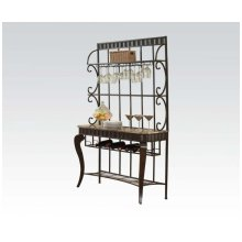 Brown Marble Top Baker's Rack