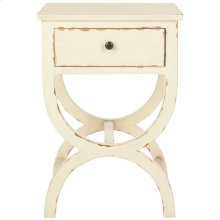 Maxine Accent Table With Storage Drawer - Vintage Cream