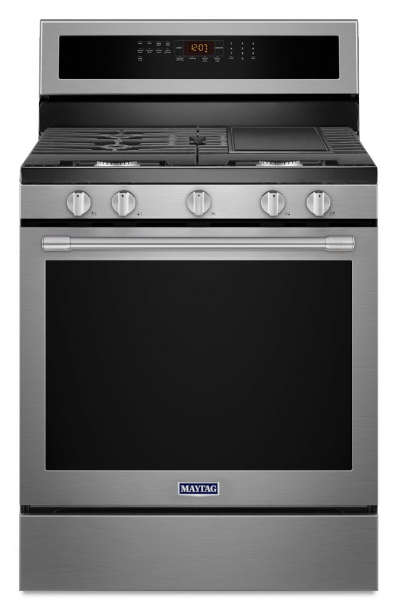 30 Inch Wide Gas Range With True Convection And Preheat 5 8 Cu Ft