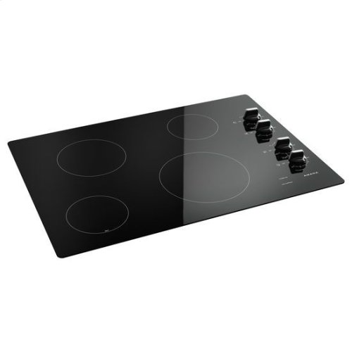 30-inch Electric Cooktop with Multiple Settings - black
