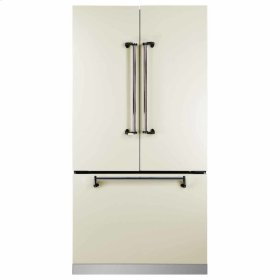 "Ivory AGA Marvel Legacy 36"" French Door Counter Depth Refrigerator"
