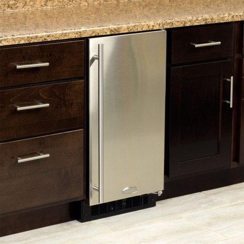 """15"""" ADA Height Clear Ice Machine with Arctic Illuminice™ - Gravity Drain - Solid Stainless Steel Door, Right Hinge"""